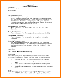 Sample Statement Of Work Template Well Known Sample Statement Of Work Sq02 Documentaries For Change