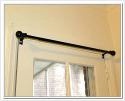 magnetic curtain rod image of french door rods black