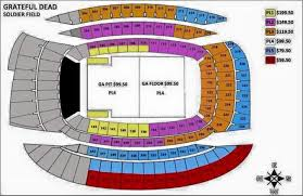 Soldier Field Seating Chart Grateful Dead 2015 Gdtstoo Updates Soldier Field Seating Chart For Dead 50
