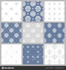 Victoriaanse Patroon Witte Barokke Behang Stockvector Mssa