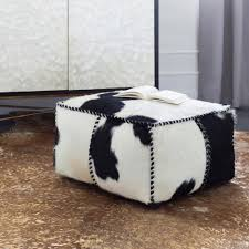 Black And White Pouf Aelham Black Accent Pouf S00151096736 The Home Depot