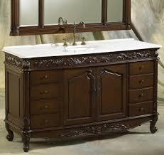 Distressed Bathroom Cabinet Bathroom Distressed Bathroom Design With Dark Brown Cherry
