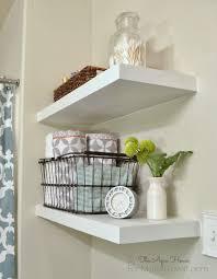 Easy To Install Floating Shelves White Floating Shelves In Bathroom 54