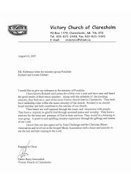 Sample Recommendation Letter From Church Pastor Archives