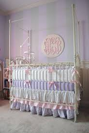 damask crib bedding carousel designs lilac and silver gray in baby nursery gorgeous