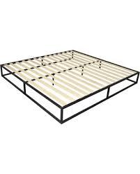 Ktaxon Ktaxon 10 Inch Platforma Low Profile Bed Frame,Mattress Foundation,Wood Slat Support,Queen,King from Wal-Mart USA, LLC | BHG.com Shop