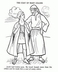 Coloring Pages Joseph And The Coat Of Many Colors With Selected