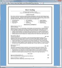 Resume Examples Sample Of Free Resume Maker Download Resume Builder