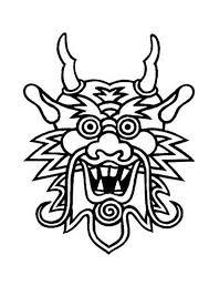Kleurplaat Masker Draak Draken Masker Dragon Face Chinese Opera