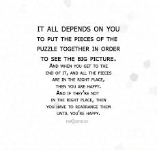 Puzzle Quotes Cool Pieces Of The Puzzle Quote
