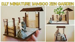 diy mini asian bamboo zen garden