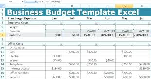 Creating A Budget In Excel Creating A Business Budget Spreadsheet In ...