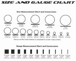 47 Valid Earring Gage Chart