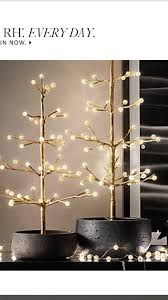 Restoration Hardware Christmas Lights Restoration Hardware Gold Northern Lights Starlit Trees