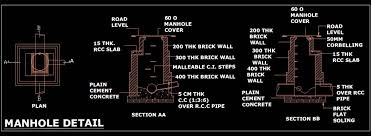 Rcc Building Design Software Free Download Manhole Plumbing Cad Dwg Drawing Free Download Autocad Dwg