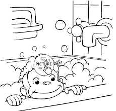 coloring book and pages curious george in free printables