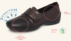 leather look stretch shoes