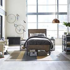 Industrial bedroom furniture French Barnside Metro Twin Panel Bed Sacdanceorg Industrial Twin Beds Headboards Bedroom Furniture The Home