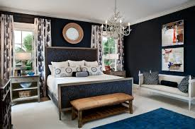 traditional blue bedroom designs. Gold And Blue Bedroom Ideas Transitional With Round Mirrors White Bedding Crown Molding Traditional Designs