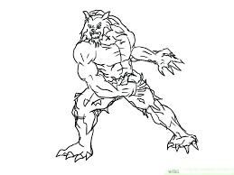 Coloring Pages Disney For Kids Animals Cars Werewolf Ferocious Page