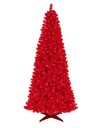 Rose Red Artificial Christmas Tree #RedChristmas. rollover to zoom in