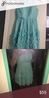 Modcloth Dress With Size Chart Pastel Blue Built In Padded