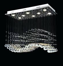 linear crystal chandelier. Modern Crystal Chandelier Square Rectangular Linear Pendant Lighting Within Design 3