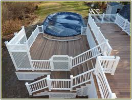 above ground pool with deck attached to house. Above Ground Pool Decks Attached To House With Deck L