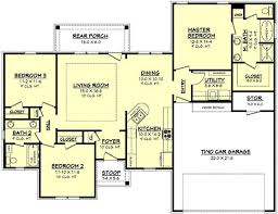 floor plan first story of acadian plan 142 1056