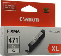 <b>Картридж Canon CLI-471 GY</b> XL (0350C001), серый, для ...
