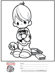 Precious Moments Coloring Pages Sunday School Bible Searchbulldogcom
