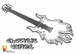 Small Picture Guitar Coloring Sheet Virtrencom