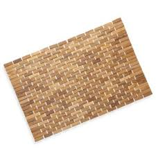 Conair Pollenex Solid Teak Roll-Up Shower Mat