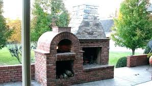 outdoor fireplace and pizza oven charming prefab outdoor fireplace pizza oven design and combination plans outdoor
