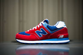 new balance shoes red and blue. new balance 574 \u201cyacht club\u201d - red / blue shoes and c