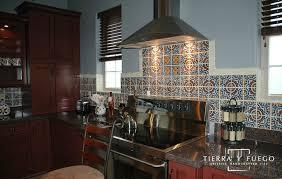 mexican tile backsplash ideas for kitchen talavera tile decorates the backsplash of the kitchen