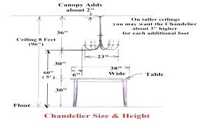 chandelier size for dining room. Plain Dining Full Size Of Dining Room Chandelier Height Lamp For 12 Foot Ceiling  Extraordinary Average Of Typical To G