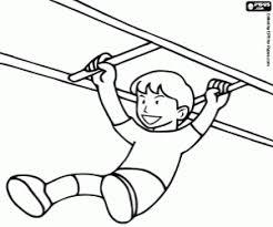 Kleurplaat Een Jongen En De Gymnastiek Schaal Kleurplaten