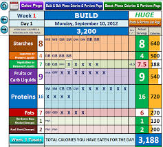 diet spreadsheet excel workout tool for body beast