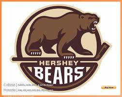 Bear Claw Embroidery Design Hershey Bears Hockey Sports Embroidery Logo In 4 Sizes Spln001832