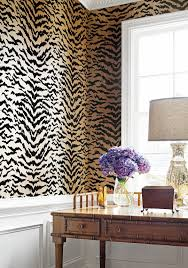 Patterned Wallpaper For Bedrooms Amazing Animal Print Wallpaper Ideas Shoproomideas Thibaut Design