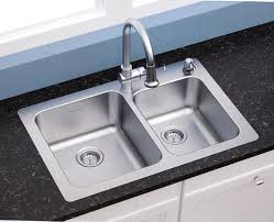 american standard 18 gauge 33 x 22 stainless steel kitchen sink with a stainless steel pull down faucet combo set com