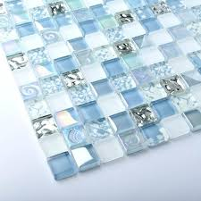blue glass mosaic tile crystal glass tiles blue iridescent mosaic interior le bathroom kitchen tile blue blue glass mosaic tile