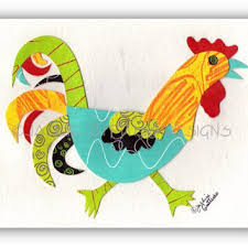 rooster art original collage kitchen rooster wall decor farm on whimsical kitchen wall art with shop rooster wall decor for kitchen on wanelo