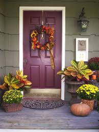 thanksgiving front door decorations10 Fall Door Decorations That Arent Wreaths  HGTVs Decorating