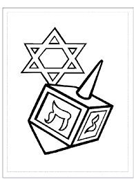 Small Picture Hanukkah coloring pages dreidel and symbol ColoringStar