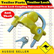 ball hitch lock. hitch lock coupling universal tow ball caravan camping anti theft (trailer lock) h