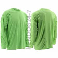 Huk Size Chart Huk Mens Ice Neon Green Long Sleeve Fishing Shirt Size
