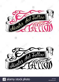 Vector Tattoo Studio Logo Templates Cool Retro Styled Vector