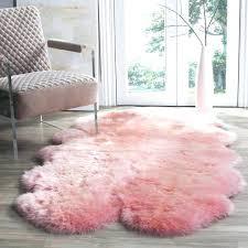 light pink fur rug impressive ideas excellent decoration best on girls rugs